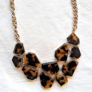 Forever21 Leopard Print Statement Necklace